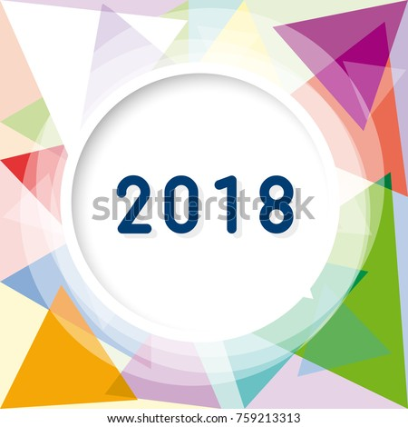 2018 new year party invitation vector stock vector 759213313 2018 new year party invitation vector abstract geometric background with triangles stopboris Image collections