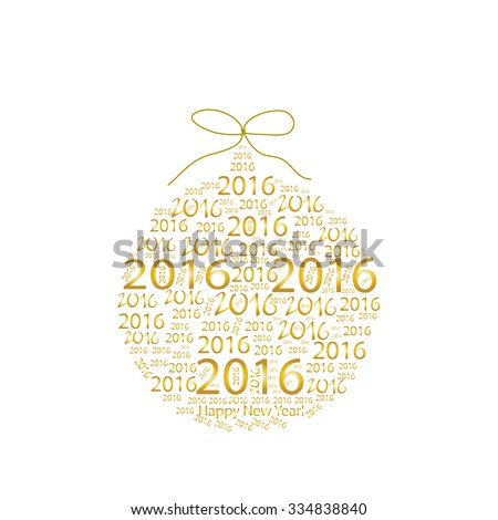 2016 New Year (vector) - stock vector