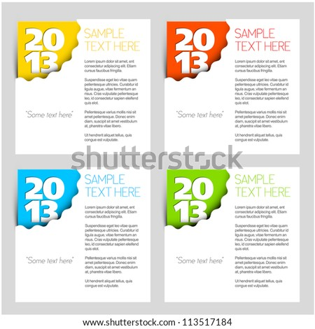 2013 - New Year vector corner for your card or web site - stock vector