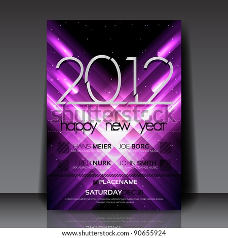 2012 New Year Vector Flyer Template