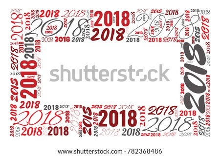 2018 New Year Word Cloud Frame Stock Photo (Photo, Vector ...