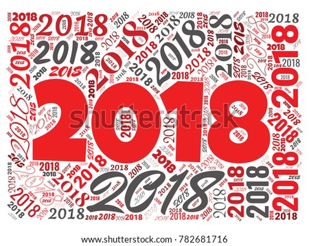 2018 New Year Word Cloud Template Stock Vector (Royalty Free ...