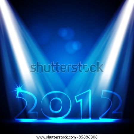 2012 New Years Eve Vector Design - stock vector