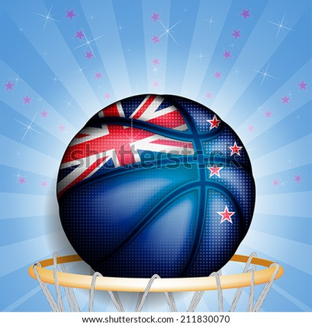 New Zealand basket ball, vector
