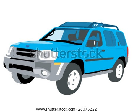 2004 Nissan Xterra SUV vector illustration - stock vector