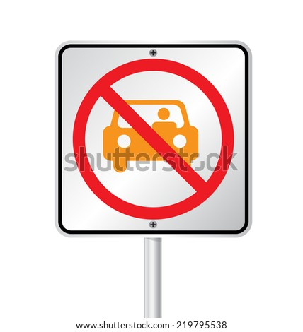 no parking sign vector illustration  - stock vector