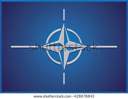 North Atlantic Treaty Organization (NATO) flag.Vector illustration.