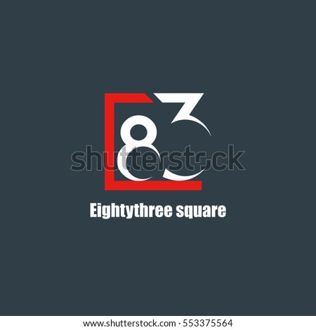 83 Number logo design vector element