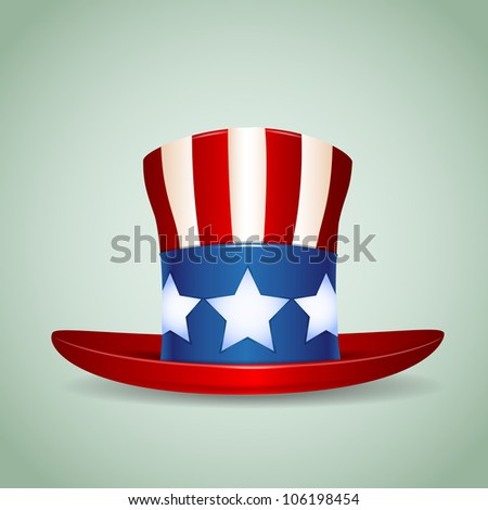 4 of July celebration hat icon. - stock vector