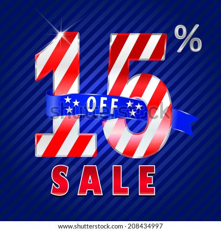 15 off, 15 sale discount, 15% off text- vector EPS10