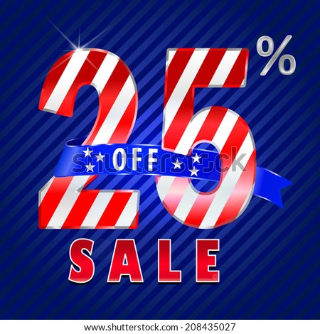 25 off, 25 sale discount, 25% off text- vector EPS10