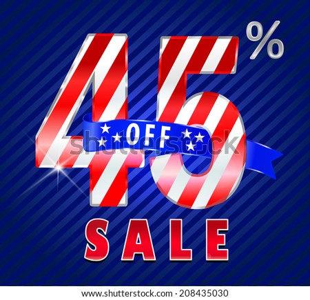 45 off, 45 sale discount, 45% off text- vector EPS10