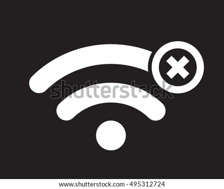 offline sign:  disconnected  wireless network icon