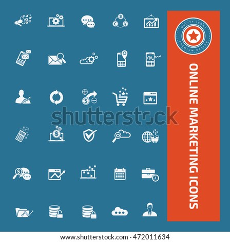 Online marketing icon set. vector