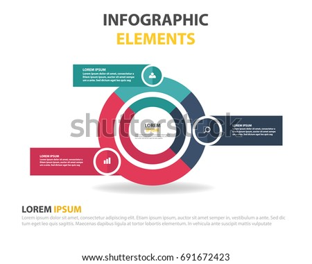 3 options infographic template with line icons for prsentations reports brochures etc can