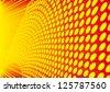 orange halftone background - stock vector