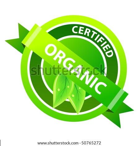 """Organic"" label - stock vector"