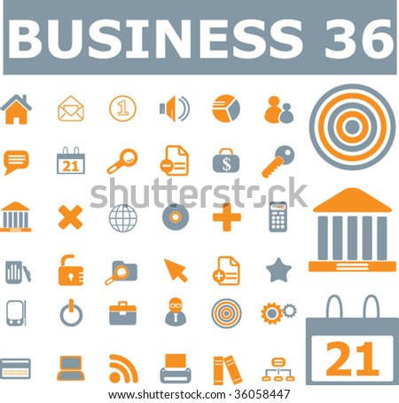 36 original business icons. vector