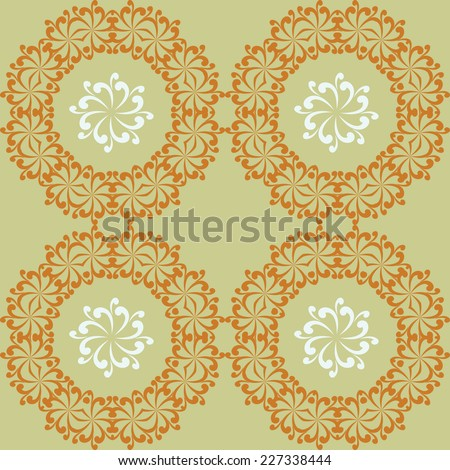 Ornamental round lace. Ornamental round lace pattern, circle background with many details.