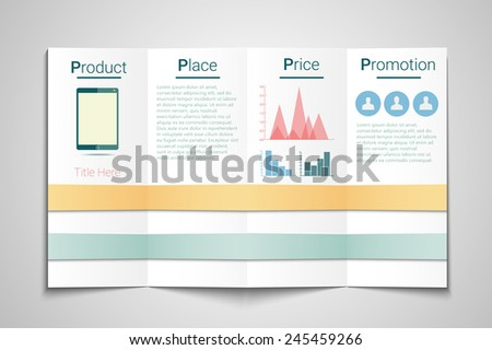 P Marketing Brochure Template Price Product Stock Vector Hd