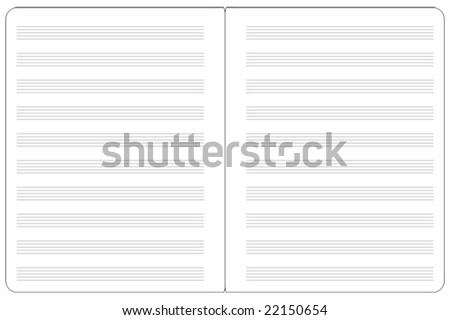 2-page music notepad vector graphics - stock vector