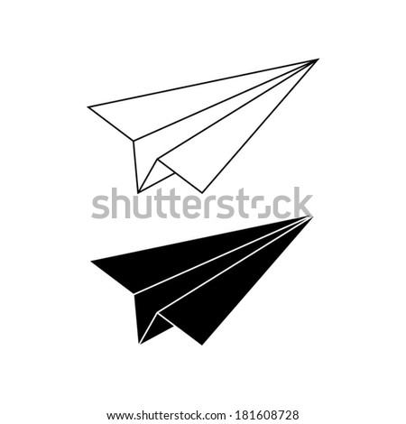 paper airplane - vector icon - stock vector