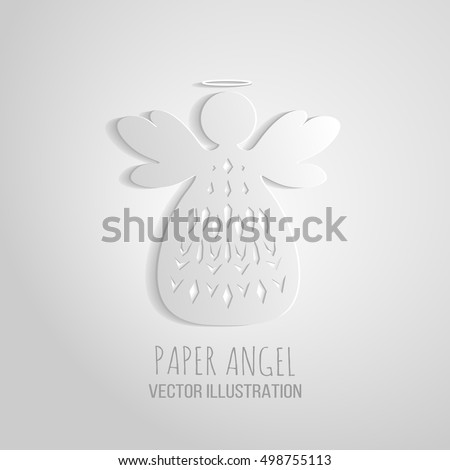 Baby angel stock images royalty free images vectors for Angel decoration template
