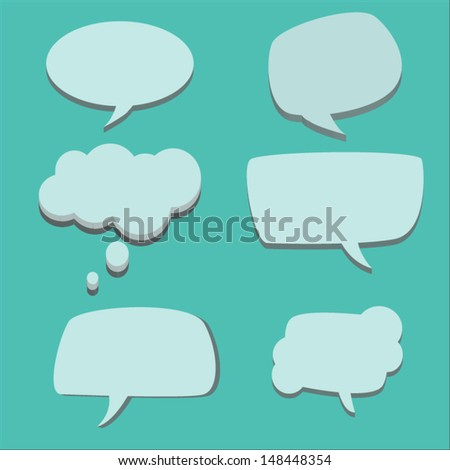 Paper Speech Bubble, Vector Illustration