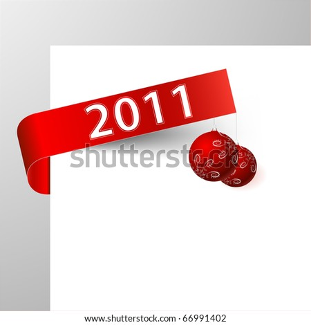 2011 paper tag - stock vector