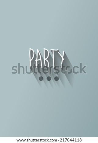 """party"" typography with shadow vector, Eps 10 - stock vector"