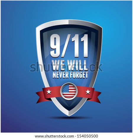 9/11 Patriot Day, September 11, 2001. Never Forget. - stock vector