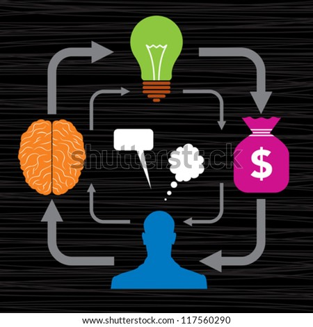 people for a stable growth in business - stock vector