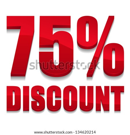 75 percent discount digits
