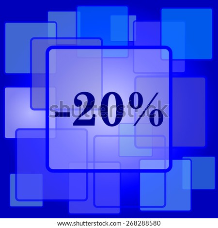 20 percent discount icon. Internet button on abstract background.  - stock vector