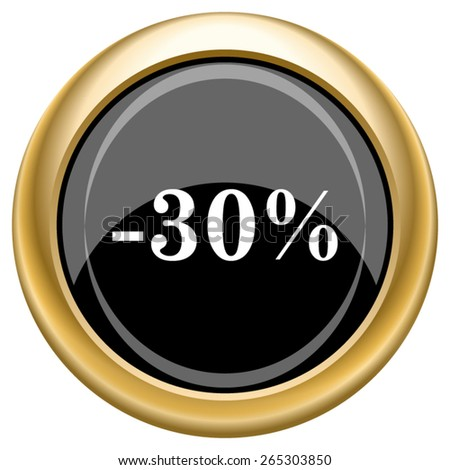 30 percent discount icon. Internet button on white  background. EPS10 Vector.
