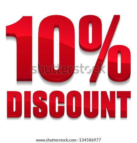 10 percent discount text