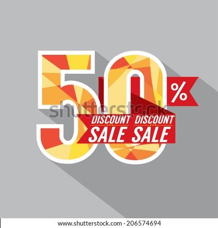 50 Percent Discount Vector Illustration  - stock vector