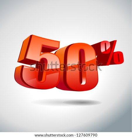 50 percent sale - stock vector