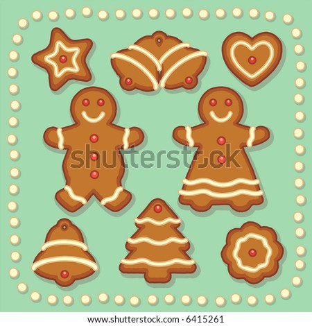 8 perfect gingerbread cookies