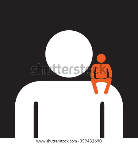 personal assistant  ready to help  anytime - stock vector