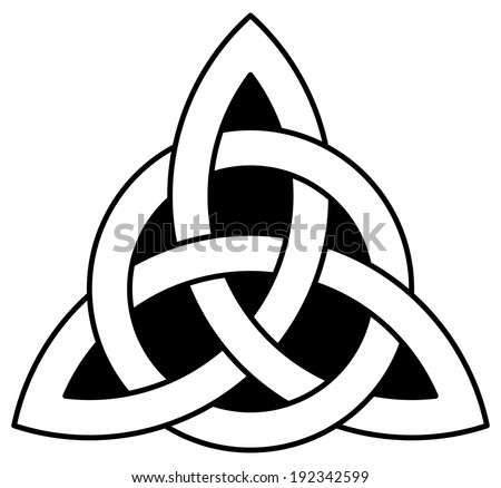 3 Point Celtic Triquetra Trinity Knot Stock Vector 192342599