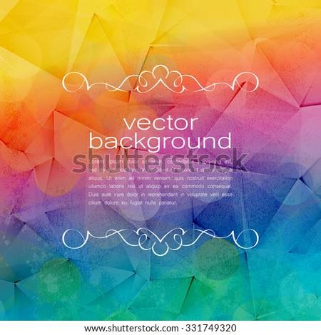 Polygonal Vector Background. Vintage Paper Texture  - stock vector
