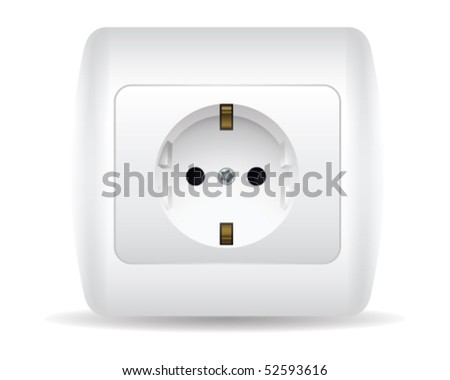 Power Outlet - stock vector