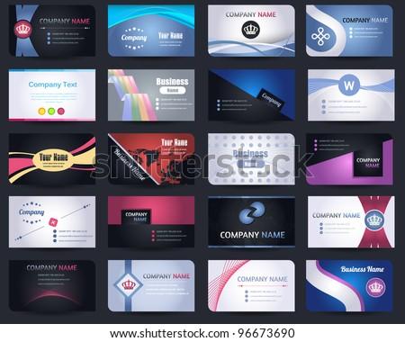 20 Premium Business Card Design Vector Set - 02 - stock vector