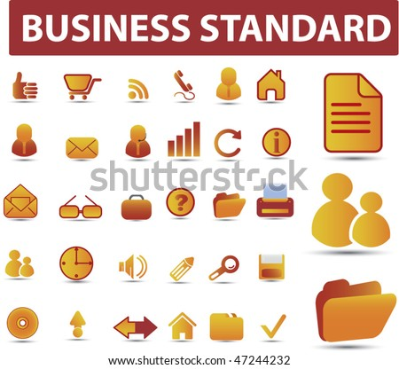 25 premium business standard signs. vector - stock vector