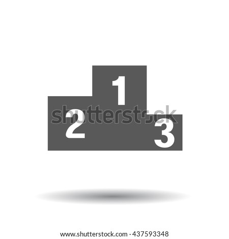 123 preschool learning blocks flat icon for apps and websites - stock vector