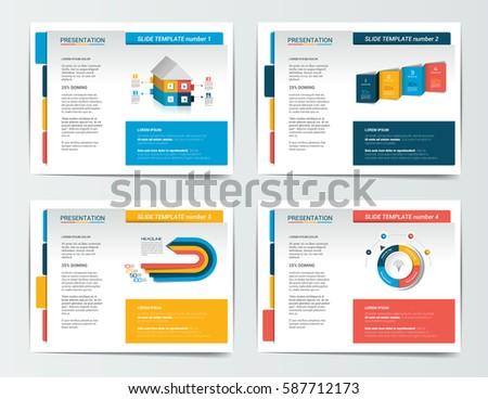 4 Presentation Business Templates Infographics Leaflet Stock Vector