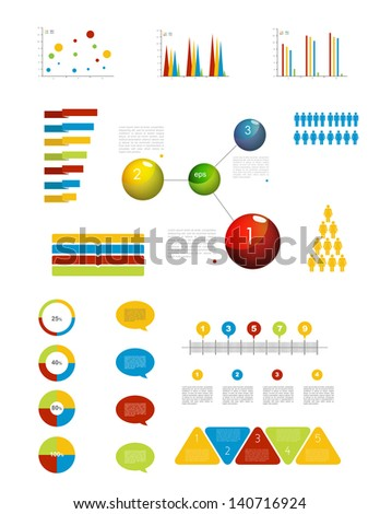 Presentation template for infographics with pie chart diagram. Web elements.