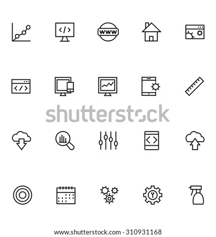 Productivity and Development Vector Icons 2  - stock vector