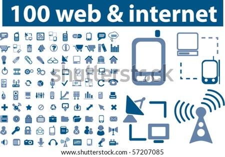 100 professional web & internet signs. vector